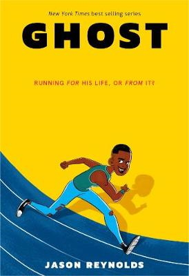 Ghost book cover showing a kid running