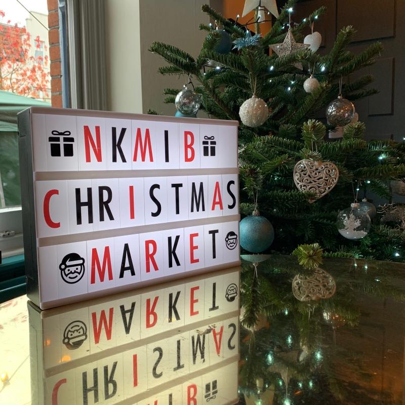 NKMIB Christmas Market sign