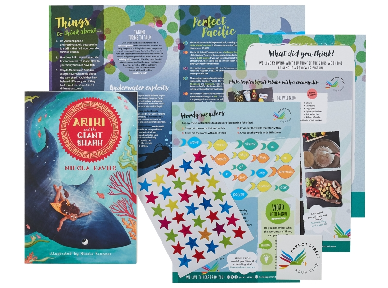 Ariki and the Giant Shark book with activity pack
