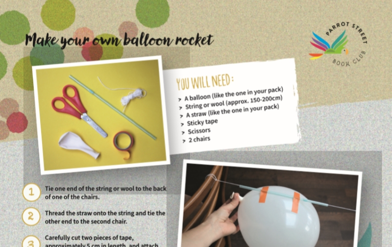 Make your own balloon rocket instructions