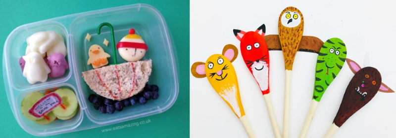 Bookish bento boxes and story spoons