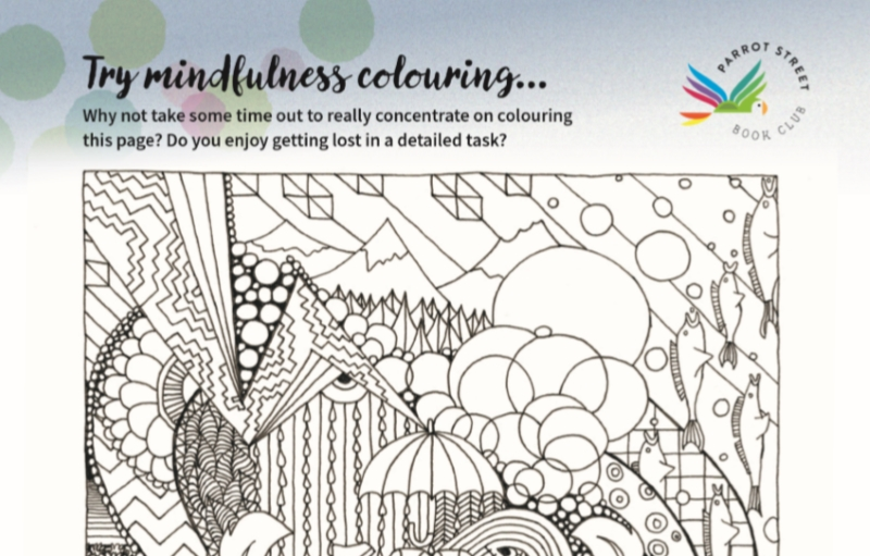 Mindfulness colouring page