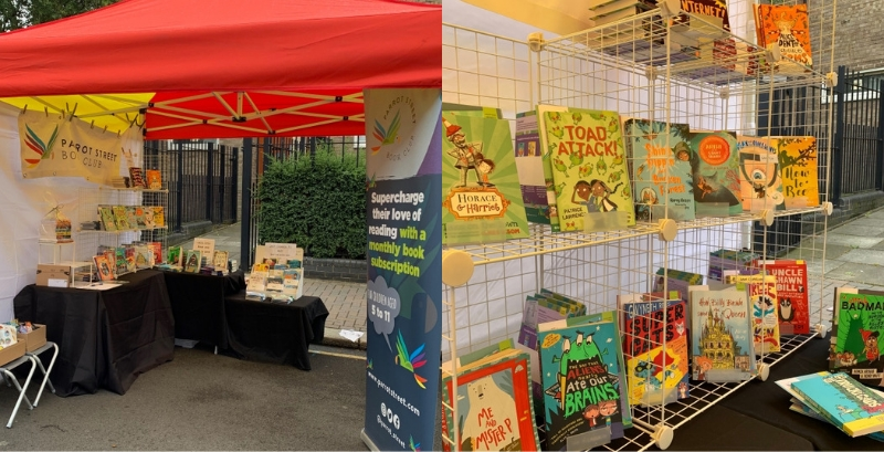 Parrot Street Book Club set up at Northcote Road Summer Fete