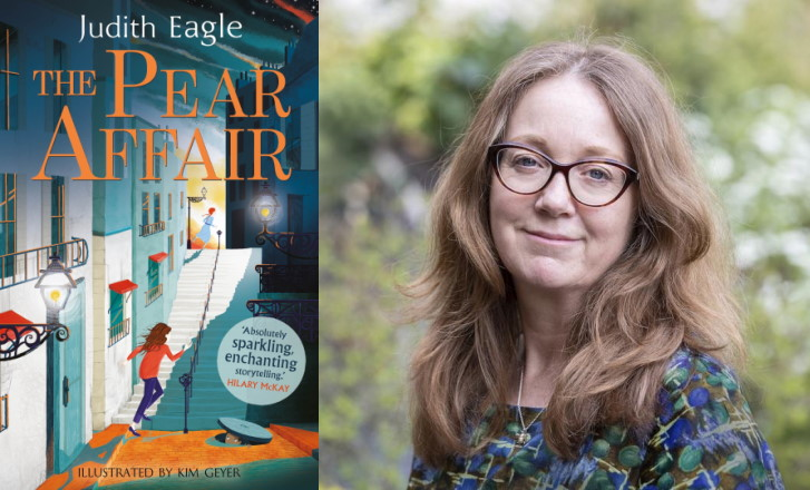 The Pear Affair cover and Judith Eagle