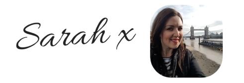 Sarah's signature and photo