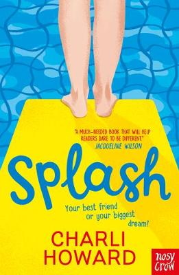 Splash book cover showing legs on a diving board above a swimming pool